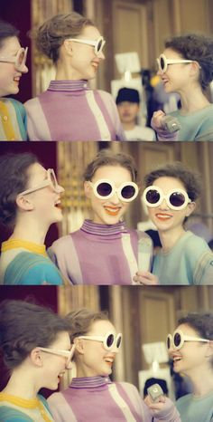 <p>I just stumbled on these very '60's inspired photographs that are actually the backstage of Tsumori Chisato FW 2011 collection. The pastel palette, the psychedelic prints and the rounde