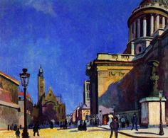 The Pantheon and St. Etienne-du-Mont, 1904-Raoul Dufy - by style - Impressionism