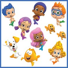 INSTANT DOWNLOAD Bubble Guppies Birthday Centerpiece, banner, wall decor - Digital File - for Bubble Guppies party
