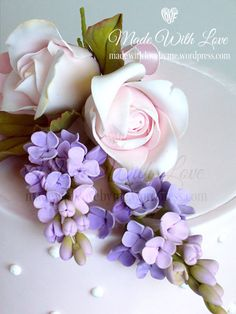 {Delightful gumpaste Lilac by Pamela McCaffrey}