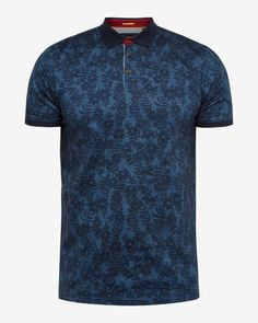 From suits and shirts to polos and chinos, Ted's T for Tall is tailored for gents with a head for heights to to be exact). Printed Polo Shirts, Polo T Shirts, Ted Baker, Navy Chinos, Camisa Polo, Designer Clothes For Men, Men Design, Navy Tops, Floral Tees