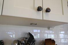 recessed undercab lights via: Willow Wisp Cottage: Details on our kitchen renovation: part 1