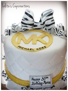 Michael Kors Inspired cake by Lolita's Cupcreations