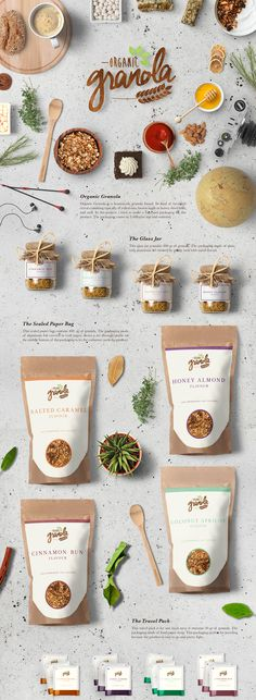 Organic granola food branding packaging on behance food and drink logo behance organic granola food branding packaging food and drink logo branding food and drink logo behance logo parodies volume 1 food and beverages food and drink logo behance Food Branding, Food Packaging Design, Brand Packaging, Branding Design, Food Design, Graphisches Design, Menu Design, Graphic Design, Label Design