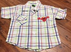 Brand-New Without Tags Sesame Street Baby Boy Size 2 Casual Dress Shirt Elmo Top