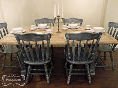 Bistro dining table & 4 chairs Chalk Paint™ by Annie