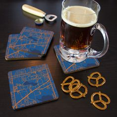 Set of Four Coasters of the University of Florida campus in Gainesville, Florida.