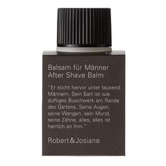 After shave Balsam vom Schweizer Naturkosmetik Label Rober & Josiane After Shave Balm, Manners, Shaving, The Balm, Perfume Bottles, Label, Beauty, Swiss Guard, Organic Beauty