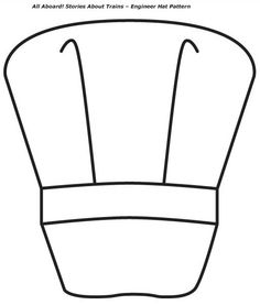 Chef hat pattern use the printable outline for crafts creating engineer hat pattern one large hat on sheet pronofoot35fo Gallery