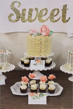 How to style your very own DIY dessert table. #caketable #diy #weddingchicks Design: Cacao Sweets and Treats ---> http://www.weddingchicks.com/2014/04/28/cake-table-style-guide/