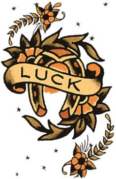 Luck 2 - Vulture Graffix.  - Printed T shirts from $9.35US plus postage. Sailor Jerry,Tattoo Flash | Mail Order T Shirt, #Psychobilly #Rockabilly #ink #flash #tattoo #Vintage Tattoo Designs #TShirt #Sailor Jerry #Retro #Clothes