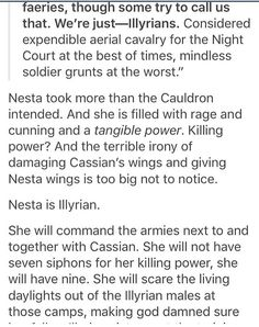 Well I mean it's obvious that the female Illyrians are going to play a big part in something truthfully this isn't very far fetched ALSO CASSIANS WINGS MIGHT BE OKAY GUYS CUZ THEY'RE LIKE BAT WINGS AND THEY JUST HAVE TO BE OKAY OR I'LL DIE