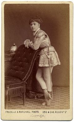 Ada Lee (1856?-1902) English music hall serio-comic and burlesque actress, as she appeared during 1871,1872 and 1873 in H.B. Farnie's adaptation of Offenbach's comic opera, Genevieve de Brabant, first produced at the Philharmonic Theatre, Islington, on 11 November 1871.