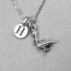 Pelican Necklace Bird charm Pelican charm by chrysdesignsjewelry