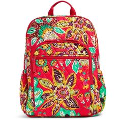 Vera Bradley Campus Tech Backpack ($108) ❤ liked on Polyvore featuring bags, backpacks, rumba, rucksack bags, mesh backpack, backpack bags, vera bradley bags and day pack backpack