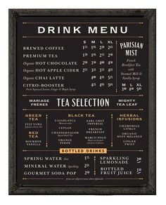 Pin by patrisha joy morales on coffee shop menu board Drink Menu Design, Menu Board Design, Cafe Menu Design, Restaurant Menu Design, Restaurant Branding, Restaurant Menu Boards, Cafeteria Menu, Blackboard Menu, Root Beer