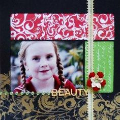 Diy scrapbooking : DIY Christmas Beauty Scrapbook Page |