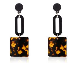0474dfcbe Match-Right Women Trendy Ethnic Vintage Statement Hanging Dangle Earrings  with Acetate for Women Jewelry