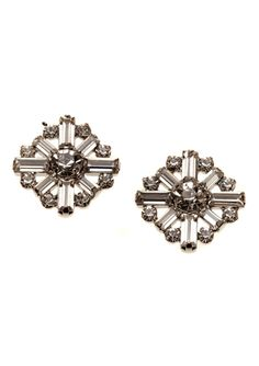 CARA COUTURE Crystal Cluster Stud Earrings