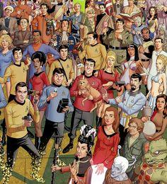 Only a true Star Trek fan can spot every reference in this awesome poster Star Trek Rpg, Star Wars, Star Trek Tv Series, Mortal Kombat Art, Nostalgia, Star Trek Characters, Star Trek Universe, Starwars Universe, Star Trek Original
