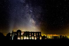 San Galgano by night new version - New version of the double exposure taken in 2014 near the san galgano abbey