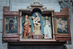 Interno della Chiesa: Trittico, Madonna e Santi e Santi Rocco e Sebastiano  Tirano (SO) Santuario della Madonna