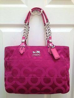 Authentic Pink Coach Large Purse Bohemian Diva Style Pinterest Purses And Shoulder Bag