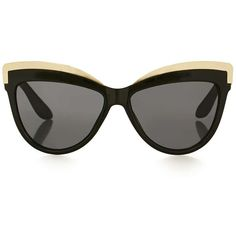 Topshop Sheldon Black Metal Detail Cateye Sunglasses (€19) ❤ liked on Polyvore featuring accessories, eyewear, sunglasses, glasses, cat eye sunglasses, cat-eye glasses, cateye sunglasses, retro sunglasses and retro cat eye sunglasses