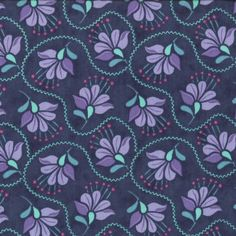 SALE - Cuzco Fabric Collection - Kate Spain for Moda - Cuzco Embroidery in Indigo - Half Yard via Etsy