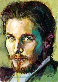 Retrato Christian Bale - Retratos | Dibujando.net