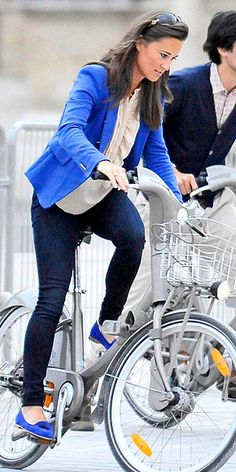 Pippa Middleton convinces us that matching your blazer to your loafers is cool: http://www.peoplestylewatch.com/people/stylewatch/gallery/0,,20614935,00.html#