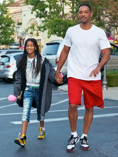 Willow Smith and her famous dad, Will Smith.