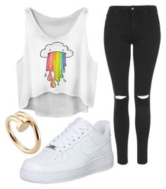 """""""Untitled #1057"""" by pinkunicorn007 ❤ liked on Polyvore featuring Topshop, Cartier, NIKE, women's clothing, women's fashion, women, female, woman, misses and juniors"""