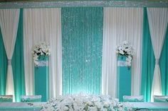 Birthday party de My big Princess - Salvabrani Quinceanera Decorations, Backdrop Decorations, Wedding Decorations, Wedding Reception Backdrop, Wedding Stage, Tiffany Blue Weddings, Photo Booth Backdrop, Backdrops For Parties, Event Decor