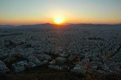 Sunset from Mt Lykavittos