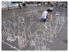 lego chalk magic! <3
