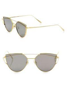 GENTLE MONSTER Love Punch 55MM Mirrored Cat Eye Sunglasses. #gentlemonster #sunglasses