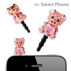 Plug Apli Crystal Pig with Heart Earphone Jack Accessory (Pink/Ligth Rose#223) by Strapya, http://www.amazon.com/dp/B0093EZ7DY/ref=cm_sw_r_pi_dp_8Y1Dqb1AQ1CJY