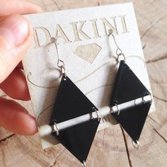 ►► Our Double Triangle collection is an ode to modern geometrics and simplicity. With their medium size they can be worn by almost everybody for adding that edgy touch to your style. Available at our webshop (link in profile) ★★★WE SHIP WORLDWIDE AT ONE LOW RATE SHIPPING COST★★★ #geometric #edgy #black #lasercut #triangle #earrings #independent #jewelrydesign #smallbrand #handmade #madeindenmark #dakinijewelry #dakinismykker #statement #trekant #smykker #øreringe #smykkedesign…