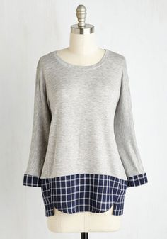After School Jam Top. Sling your backpack over the shoulder of this heather grey top, snag your sax from out of your band locker, and head home to make some funk! #grey #modcloth