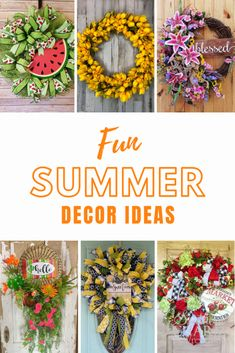 It's time to freshen up your home for the summer months and I'm here to help. Here's a list of fun summer decor ideas for your home. Diy Home Decor Projects, Decor Ideas, Country Farmhouse Decor, Summer Wreath, Wreaths For Front Door, How To Make Wreaths, Traditional House, Decorating Your Home, Centerpieces