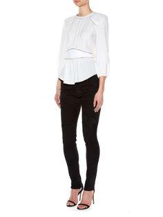 Isabel Marant Wiley contrast-seam crepe top