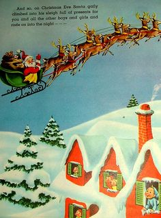 Santa's Busy Day: Vintage Children's Christmas Book by Beautiful Christmas Cards, Vintage Christmas Images, Victorian Christmas, Vintage Christmas Ornaments, Retro Christmas, Vintage Holiday, The Night Before Christmas, Christmas Past, Childrens Christmas Books