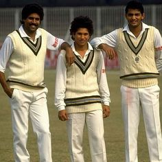 Kapil Dev, Sachin Tendulkar, and Mohammad Azharuddin: Three great cricketers from India Cricket Videos, Test Cricket, Cricket Sport, Cricket News, Sachin A Billion Dreams, Kapil Dev, Cricket Wallpapers, World Cricket, Sports Personality