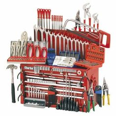 Clarke Mechanics Tool Chest and Tools Package - Machine Mart Tools And Toys, Diy Tools, Hand Tools, Square Tool, Tool Drawers, Garage Organisation, Plumbing Tools, Mechanic Tools, Garage Tools
