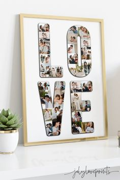 Anniversary Gift for Boyfriend, 1st Anniversary Gift for Husband, Photo Collage, Gift for Him