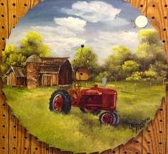 """Farmall Tractor In Spring"" by Jan Perdew"