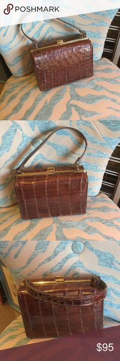 Vintage alligator bag In very good condition, not much wear. Well cared for. Vintage Bags