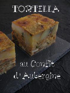 Tortilla à l'aubergine confite Plat Simple, Banana Bread, Potatoes, Favorite Recipes, Baking, Desserts, Food, Spanish Omelette, Food Cakes