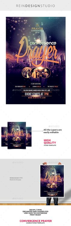 Prayer Conference — Photoshop PSD #verse #pastor • Available here → https://graphicriver.net/item/prayer-conference/14638284?ref=pxcr